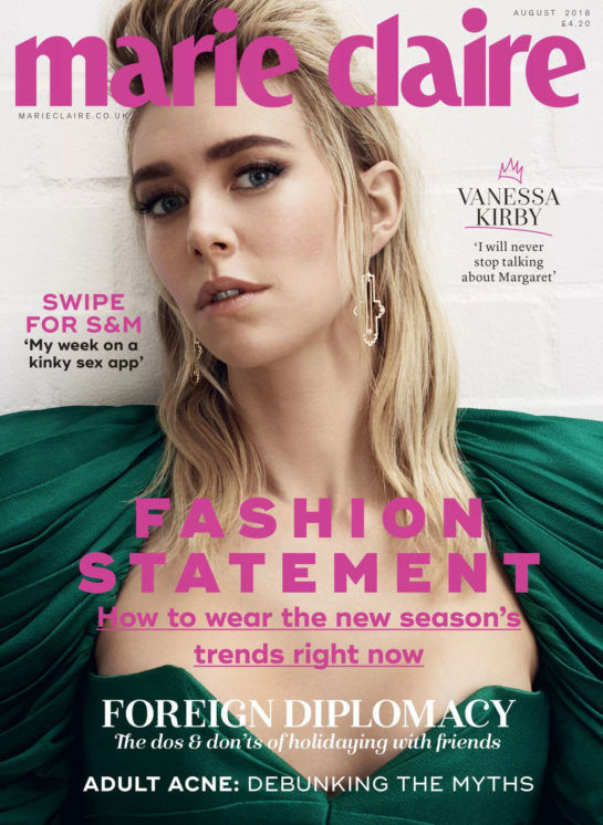 Vanessa Kirby for Marie Claire Magazine (UK August 2018)