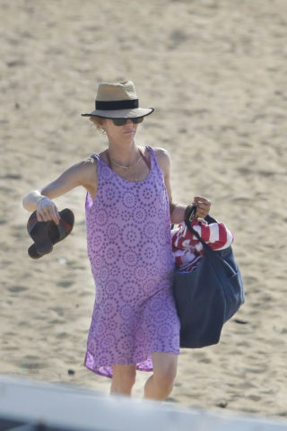 Vanessa Paradis in Swimsuit at a Beach in Biarritz