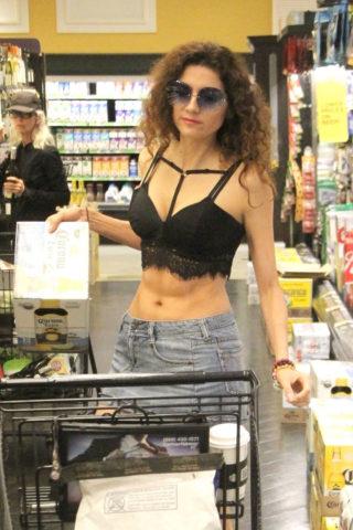 Blanca Blanco Shopping at Ralph's in Malibu