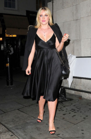 Camilla Kerslake Night Out at Loulou's in Mayfair