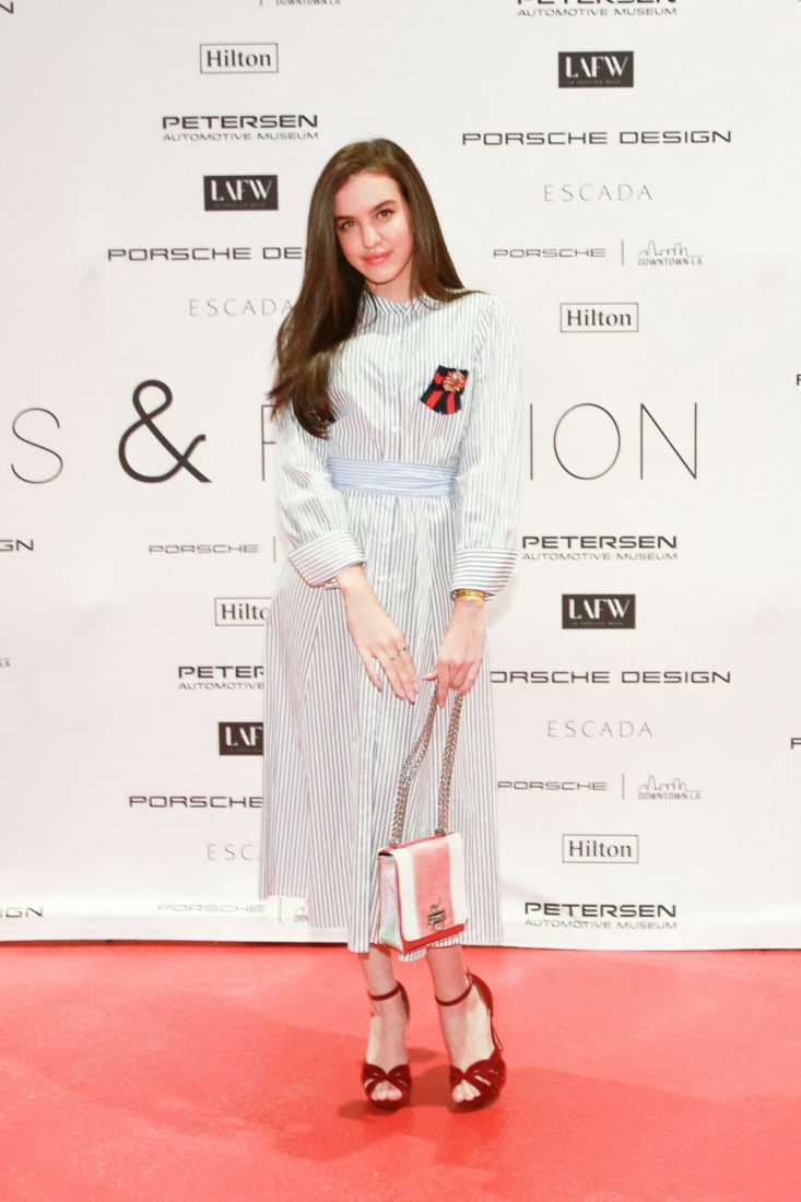 Celebrity Fashion - Lilimar Hernandez at Cars and Fashion Event in LA
