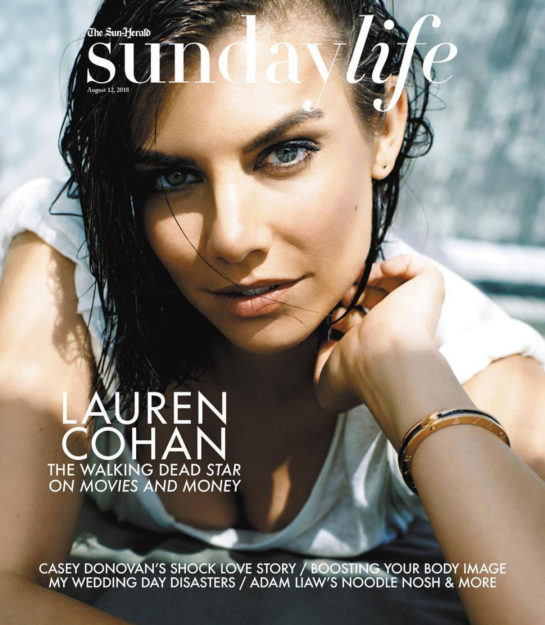 Lauren Cohan on the Cover of Sunday Life Magazine (August 2018)