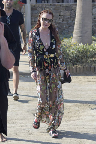 Lindsay Lohan at Her Lohan Club in Mykonos