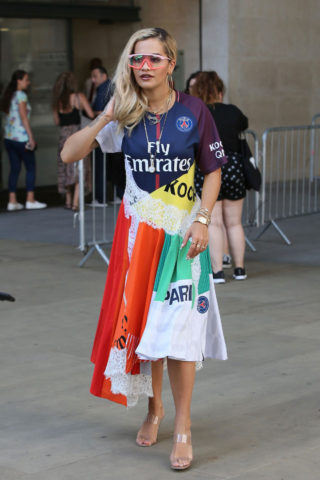 Rita Ora at BBC Radio 1 in London