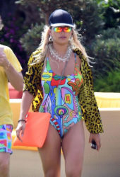 Rita Ora in Swimsuit on Vacation in Porto Cervo