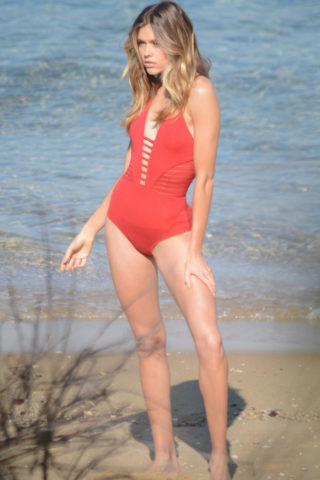 Victoria Lee in Swimsuit on the Set of a Photoshoot in Vaucluse