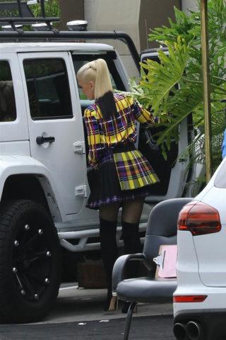 Gwen Stefani Leaves Recording Studio in Hollywood