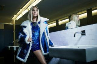 Hailey Baldwin for Nicole Benisti's fall-winter 2018 campaign