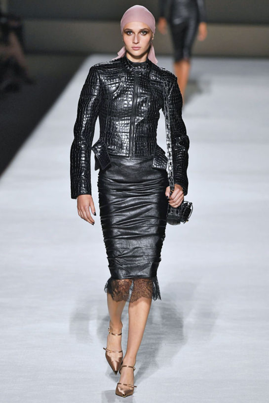 Justine Asset at Tom Ford Runway Show at New York Fashion Week