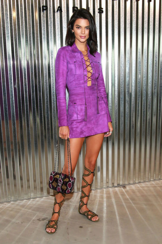 Kendall Jenner at Longchamp Fashion Show in New York