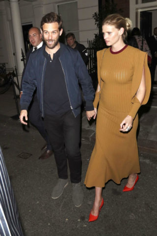 Lara Stone at the LFW Victoria Beckham x Vogue Party at Mark's Club in London