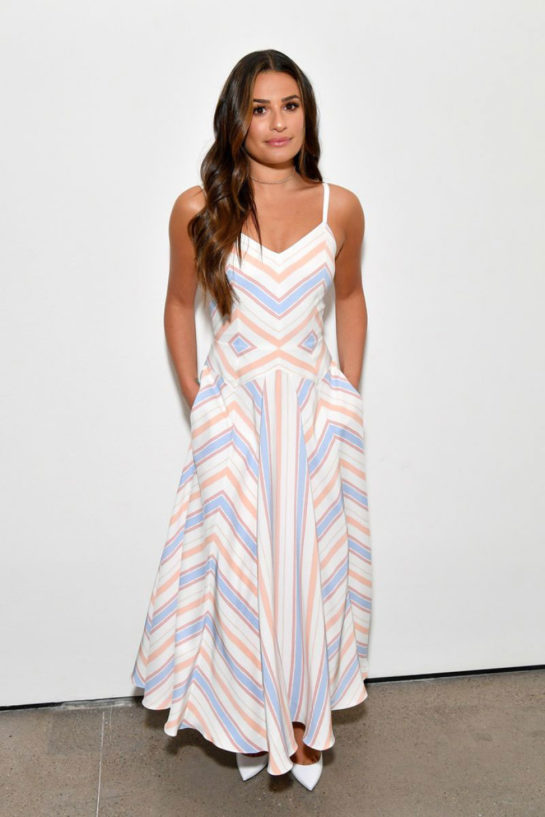 Lea Michele at Noon by Noor Fashion Show in New York