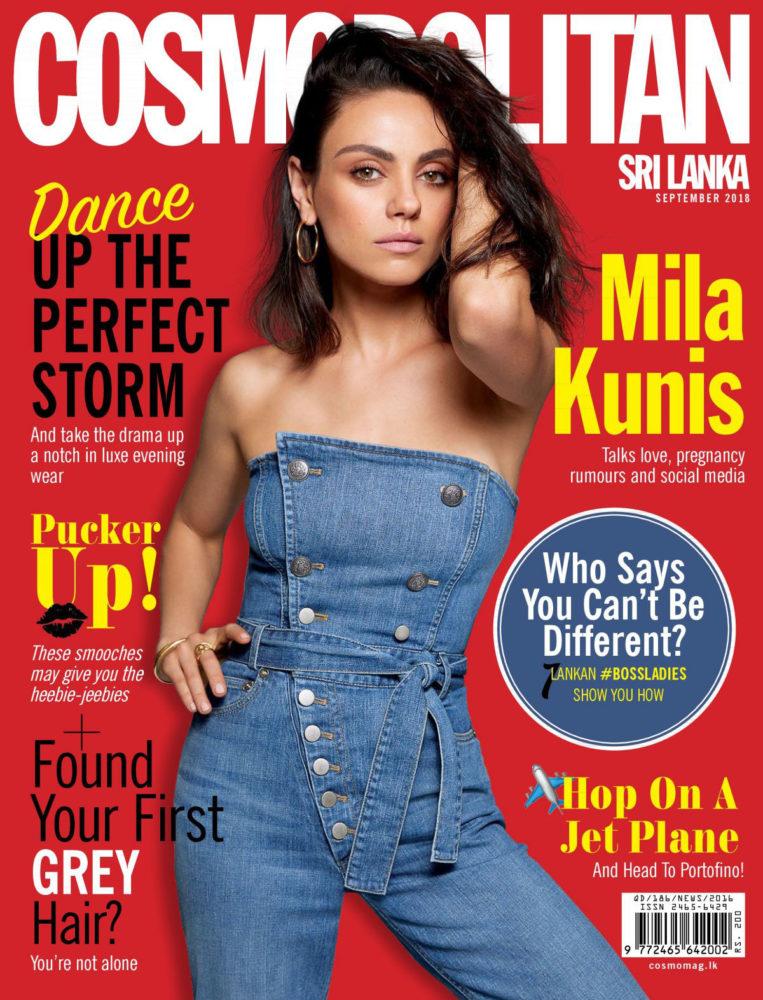 Mila Kunis in Cosmopolitan Magazine (Sri Lanka September 2018)