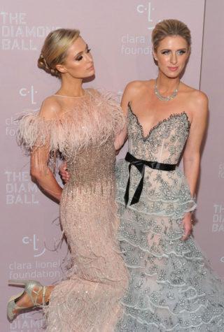 Paris and Nicky Hilton at Rihanna's 2018 Diamond Ball in New York