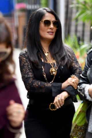 Salma Hayek Out in Toronto