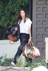 Alessandra Ambrosio Leaving Her House in Brentwood