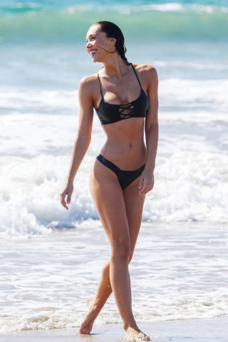 Alexis Ren in Bikini at a Beach in Santa Monica