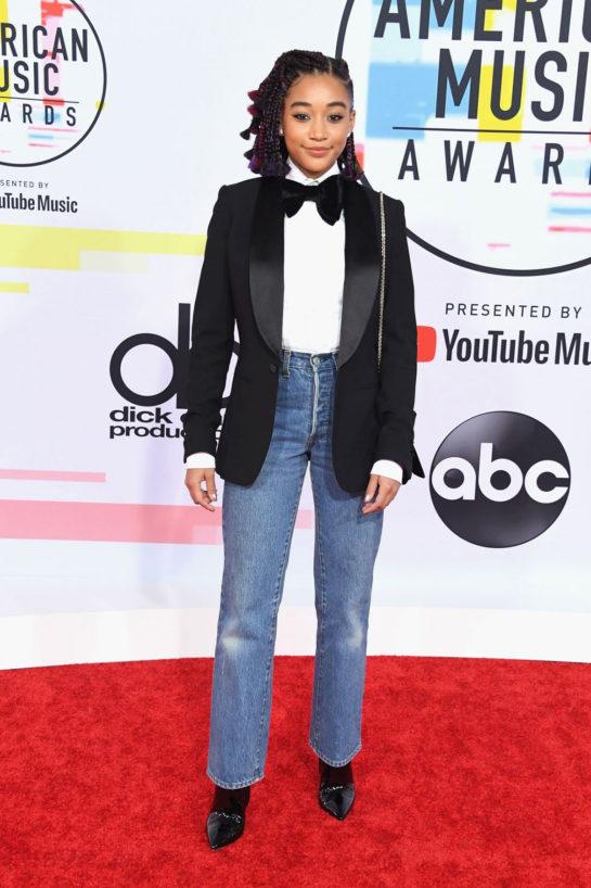 Amandla Stenberg at 2018 American Music Awards in Los Angeles