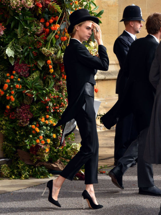 Cara Delevigne at Wedding of Princess Eugenie of York and Mr. Jack Brooksbank