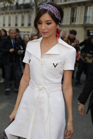 Gemma Chan at Valentino Fashion Show at PFW in Paris