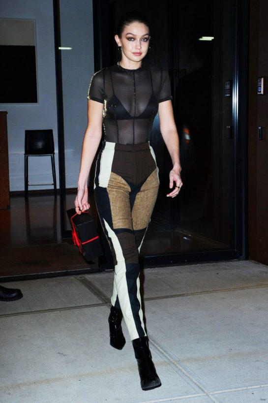Gigi Hadid Heading to Bella Hadid's Birthday Party in New York