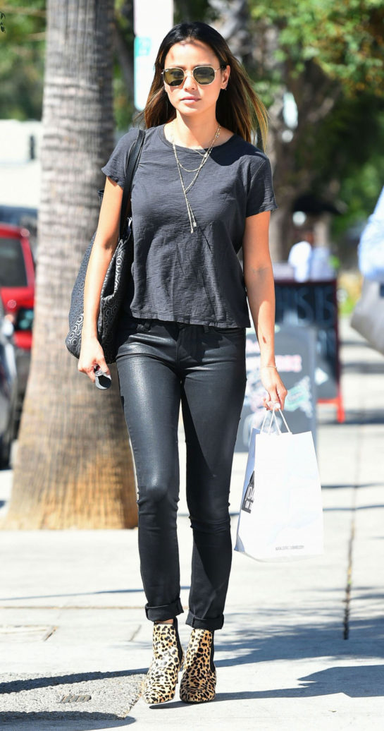 Jamie Chung leaves Joan's on Third in Los Angeles