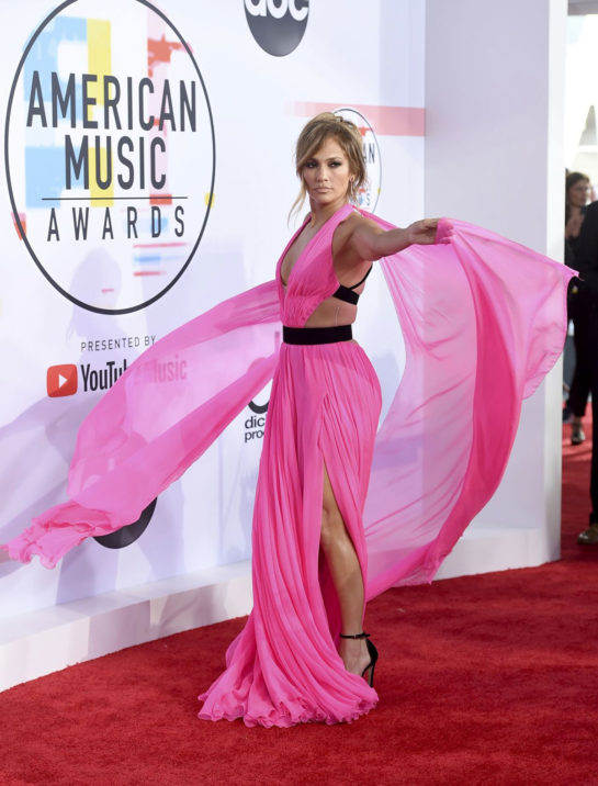 Jennifer Lopez at 2018 American Music Awards in Los Angeles