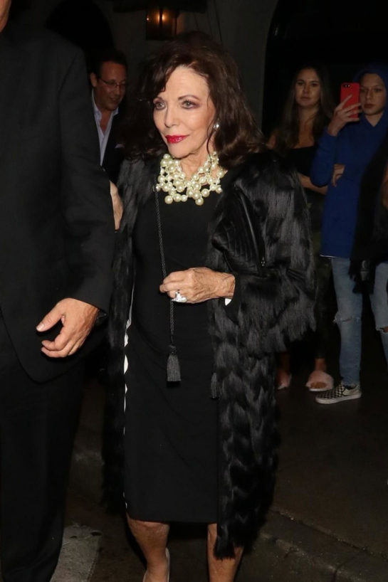 Joan Collins at Craig's in West Hollywood