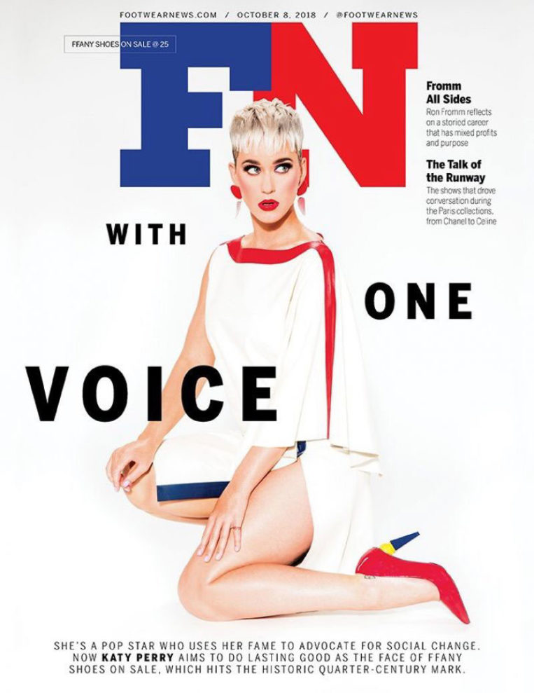 Katy Perry for Footwear News Magazine (October 2018)