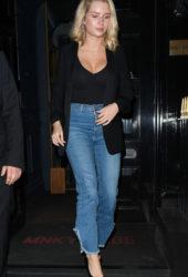 Lottie Moss Leaving the Monkey Club in London