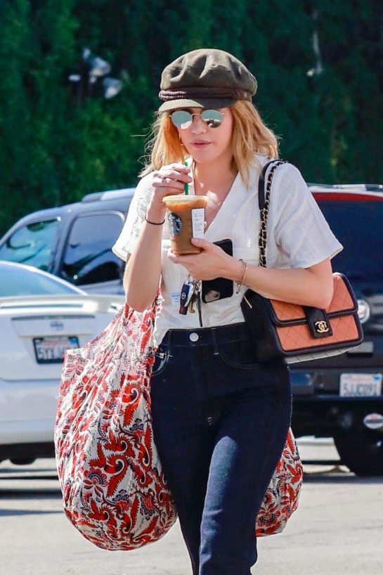 Lucy Hale Shopping in Studio City