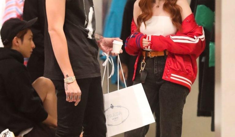 Celebrity Shopping – Madelaine Petsch and boyfriend Travis Mills Shopping in Beverly Hills