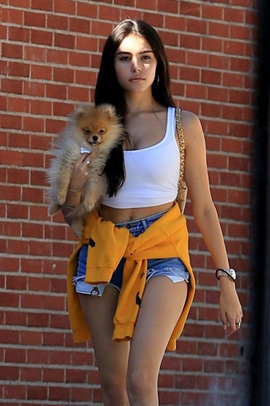 Madison Beer Out with Her Dog in West Hollywood