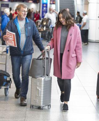 Mandy Moore Arriving in Montreal
