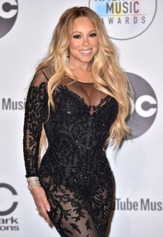 Mariah Carey at Press Room at 2018 American Music Awards in Los Angeles