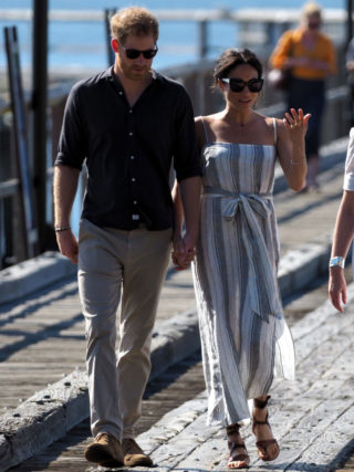 Meghan Markle and Prince Harry at Kingfisher Bay on Fraser Island in Australia
