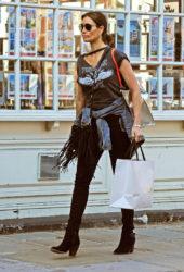 Melanie Sykes Shopping in Hampstead, London
