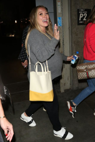 Pregnant Hilary Duff Night Out in Hollywood
