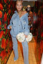 Rita Ora at Louis Vuitton and Virgil Abloh London Pop-up in London