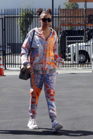 Tinashe Arrives at the Rehearsal studio in Los Angeles