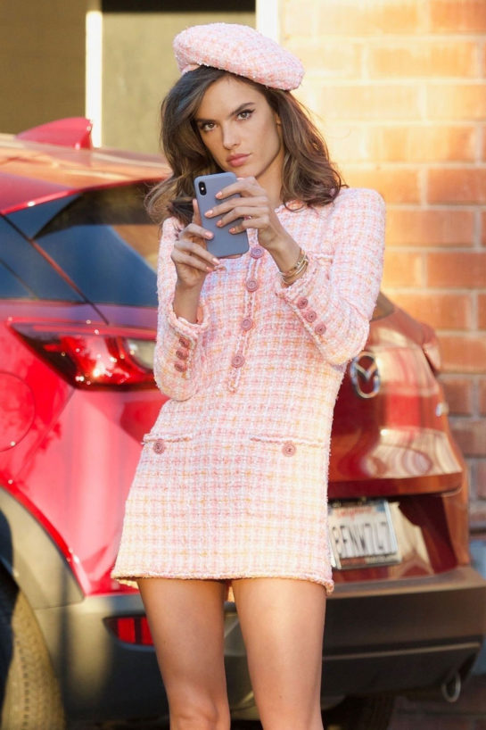 Alessandra Ambrosio on the Set of a Photoshoot in Los Angeles