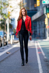 Alexina Graham at Victoria's Secret Fashion Show Fittings in New York