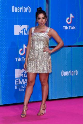 Anitta at 2018 MTV Europe Music Awards at Bilbao