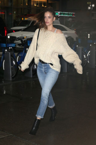 Barbara Palvin at Victoria's Secret Fashion Show Fittings in New York