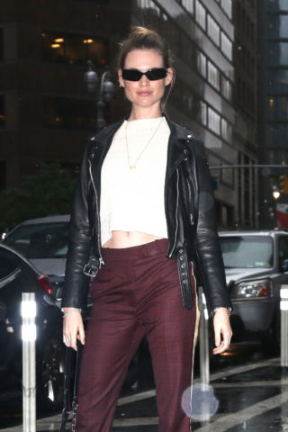 Behati Prinsloo at Victoria's Secret Fashion Show Fittings in New York