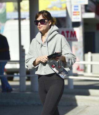 Dakota Johnson Leaves Pilates Class in Los Angeles