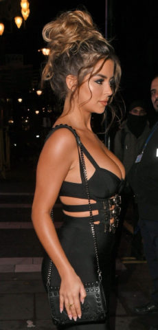 Demi Rose Mawby leaving Toy Room nightclub in London