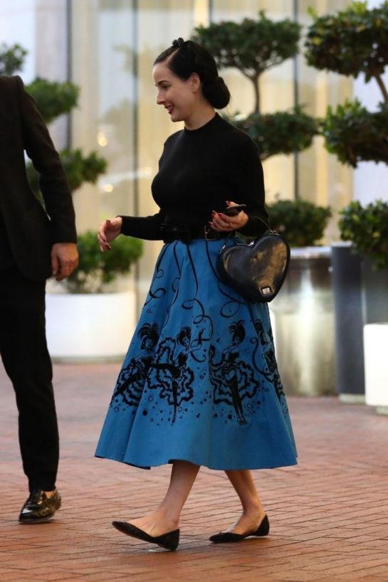 Dita Von Teese Shopping at Neiman Marcus in Beverly Hills