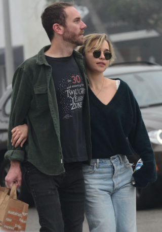Emilia Clarke and Charlie McDowell Out in Venice Beach