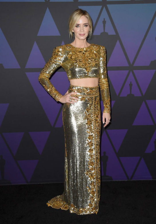 Emily Blunt at 2018 Governors Awards